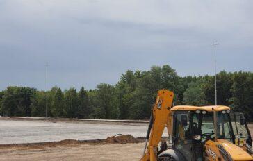 Участие в строительстве стадиона